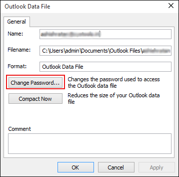 3: Unlock Outlook PST File
