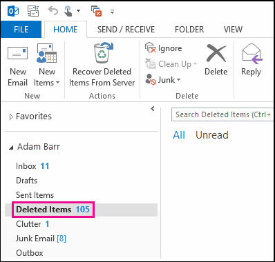 Recover Lost Outlook Data Files Items Such as Emails
