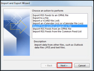 7: Import eM Client Emails