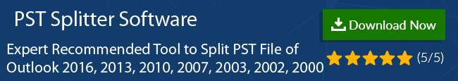 Split Large PST File In Outlook