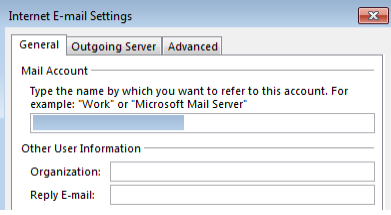 Outlook IMAP Account Settings