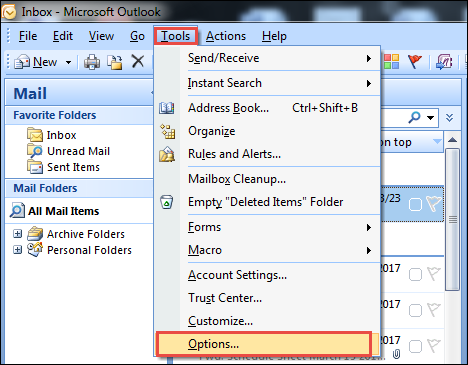 4: Outlook Data File Synchronization Error
