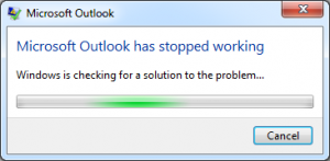 Outlook is Not Responding Error