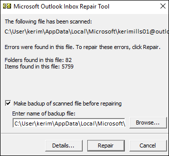 Working of Inbox Repair Tool in Outlook