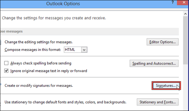 add an email signature in Outlook 2007