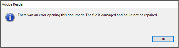There Was An Error Opening This Document