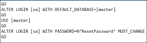 Reset SQL Server Password