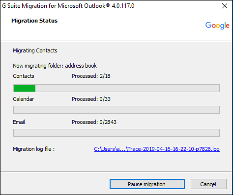 Start Migrate OST to Gmail task