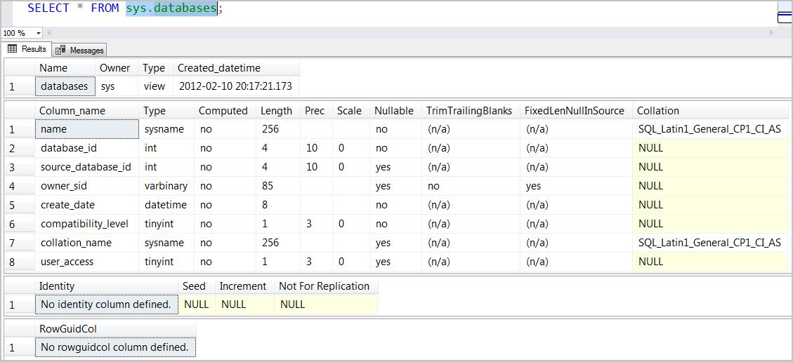 SQL Server Metadata Corruption