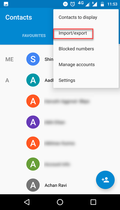 10: Export – Import Office 365 contacts to Android