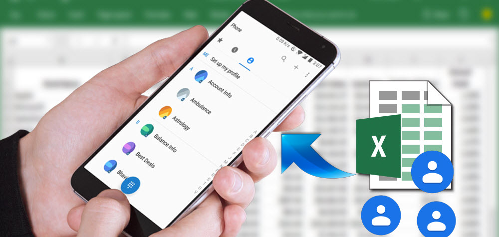 Import Contacts From Excel to Android Phone