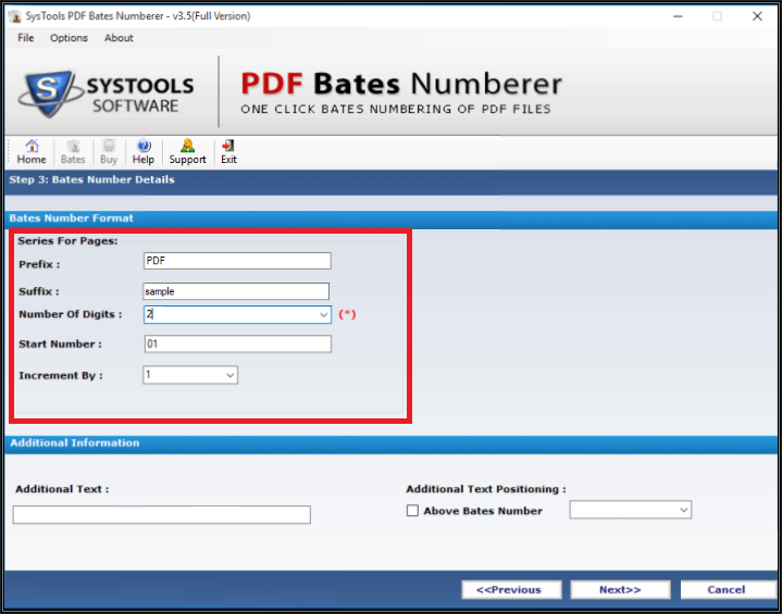 Step 3: Add Custom PDF Page Numbers