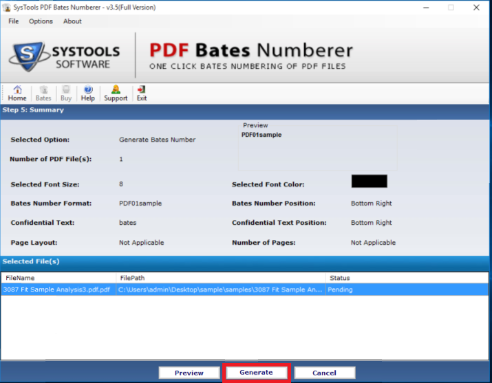 Step 4: Add Custom Page Numbers to PDF Files