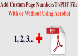 add custom page numbers to pdf