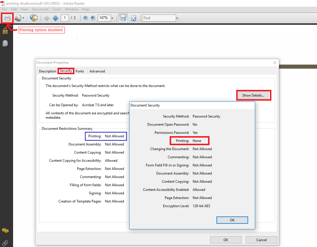 How To Remove Printing Permission From PDF File – Quick Solution