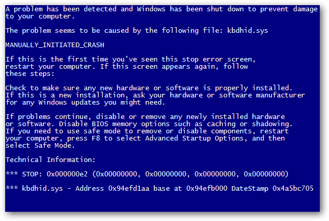 BSOD Error in Windows XP, Vista, 7