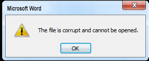 Fix The File is Corrupted And Cannot Be Opened Word Error