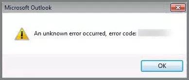 Microsoft Outlook Error Code 0x80004001