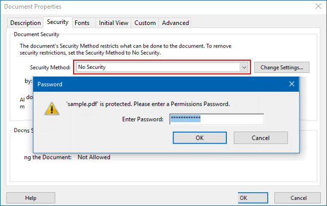 Unlock PDF Permissions Password