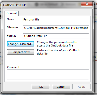 Select Change Password option