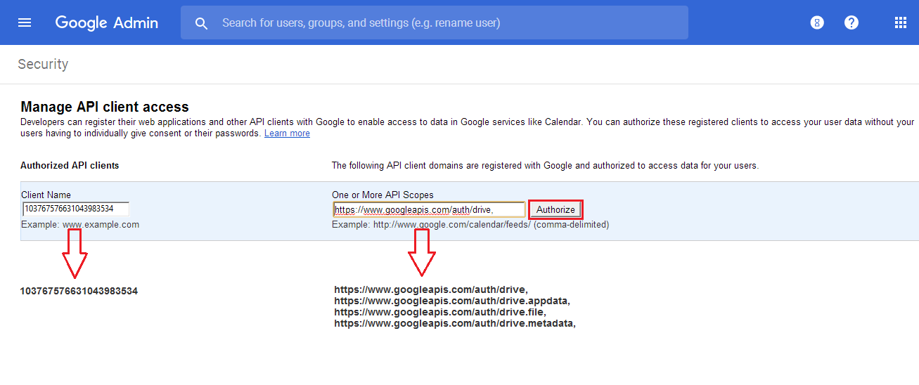 Now, register the API client domains