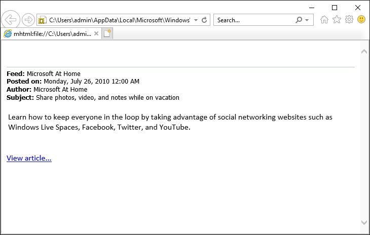 View Outlook Mail in Browser