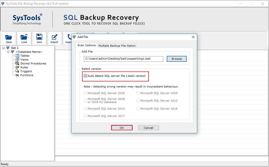 Repair Corrupt SQL Server File