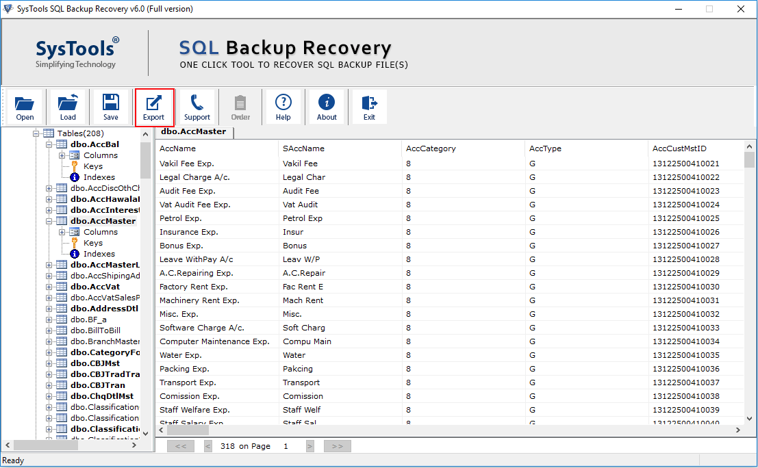 export-bak-data