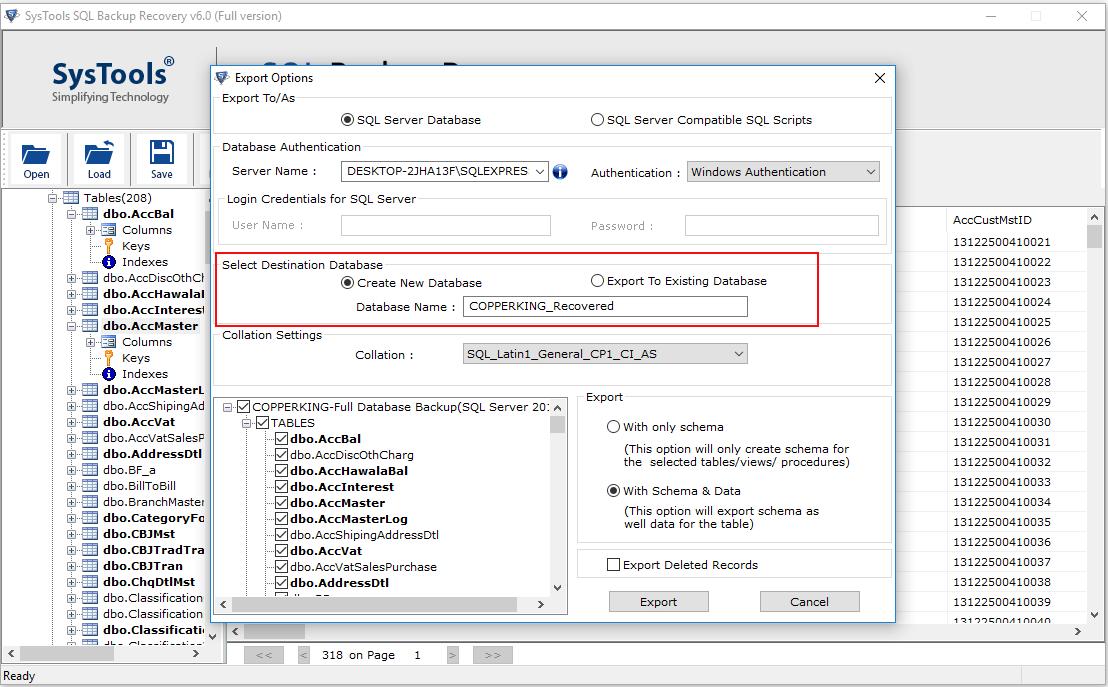 export-bak-file-to-new-database