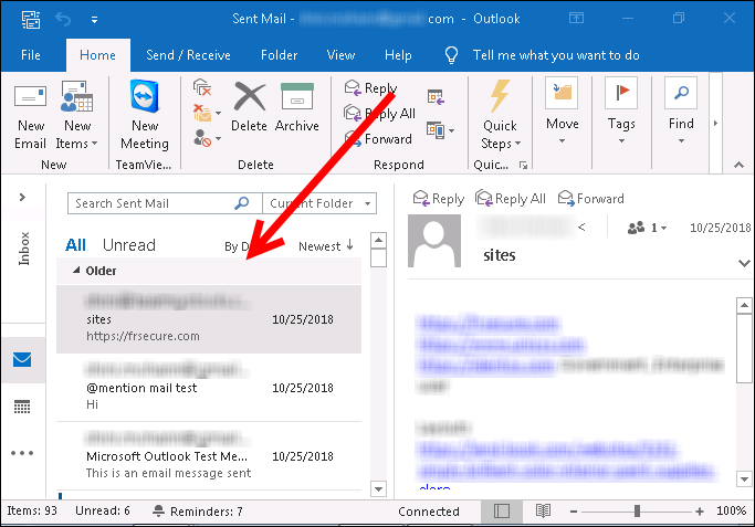 Read PST file in Outlook 2016