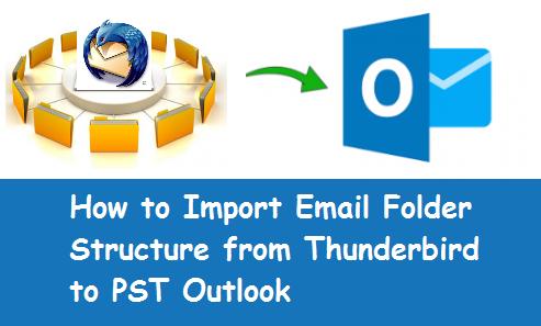 maintain thunderbird folder structure in Outlook