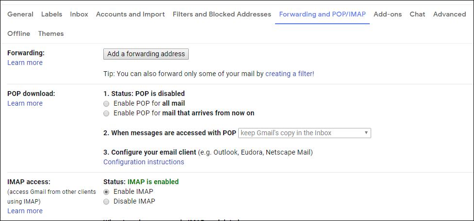 Opt IMAP