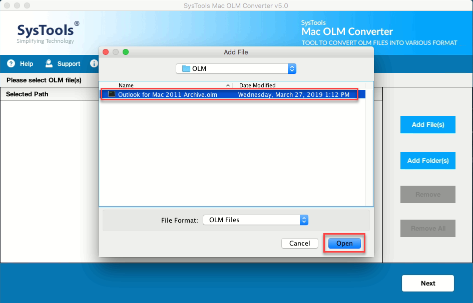 Mac OLM Converter - Transfer Mac Outlook Calendar to ICS File Format