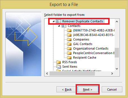 Select Remove Duplicates Folder