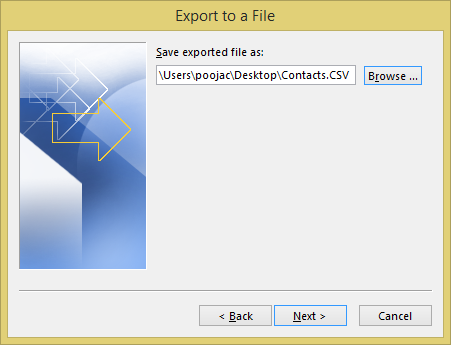 Select Location to Save CSV File