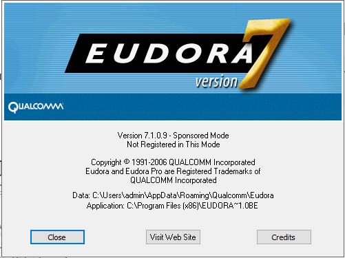 location of eudora 7 mailbox