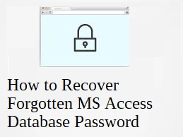 recover forgotten password