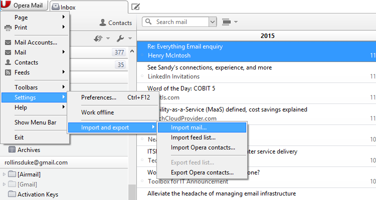 convert pst to opera mail