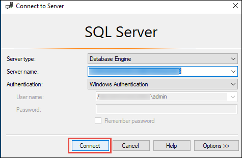 Authorize Additional Connections After Connecting to SQL Server Database Engine