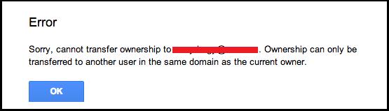 How to Transfer Google Docs Across Domains?