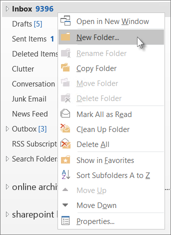 Open the Outlook email client