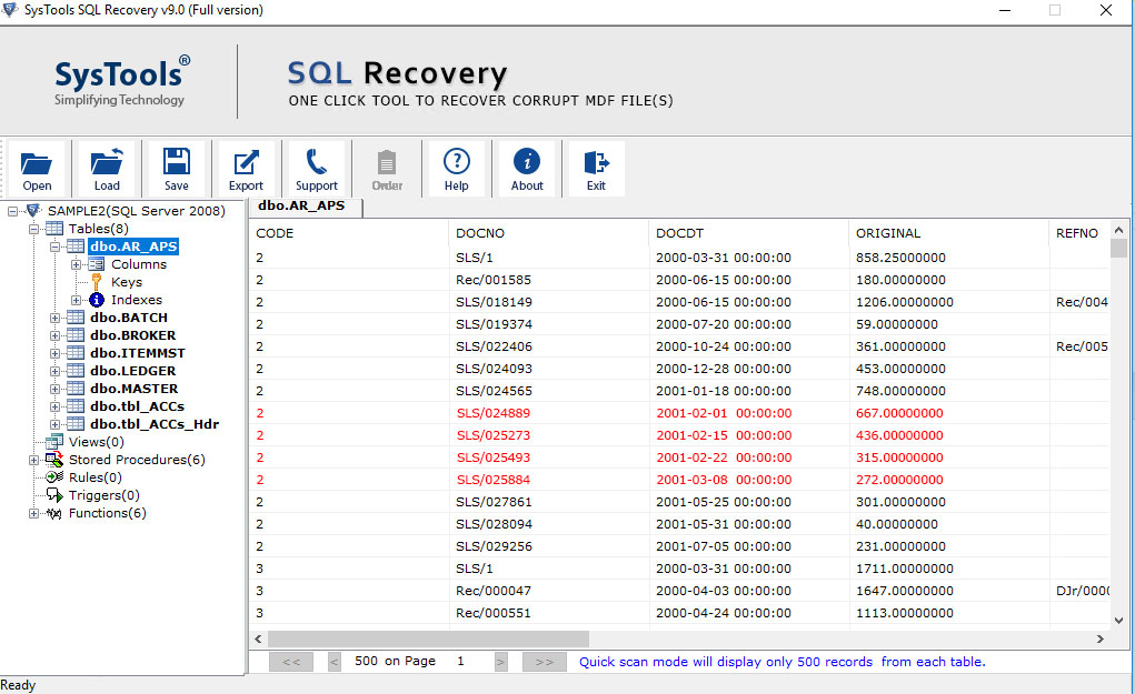 Preview Database Objects