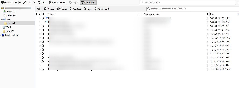 View Thunderbird Mailbox Emails