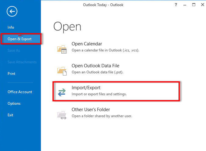 error importing contacts into outlook