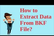 extract data from BKF file