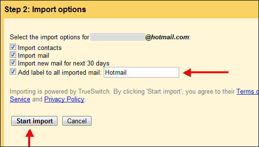 Import Options to Move Emails from Hotmail to Gmail