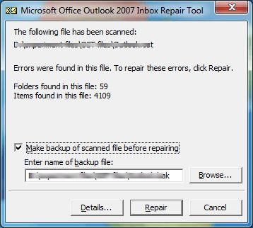 Fix 0X80040115 Outlook Error