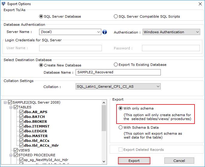 Restore SQL Server Database
