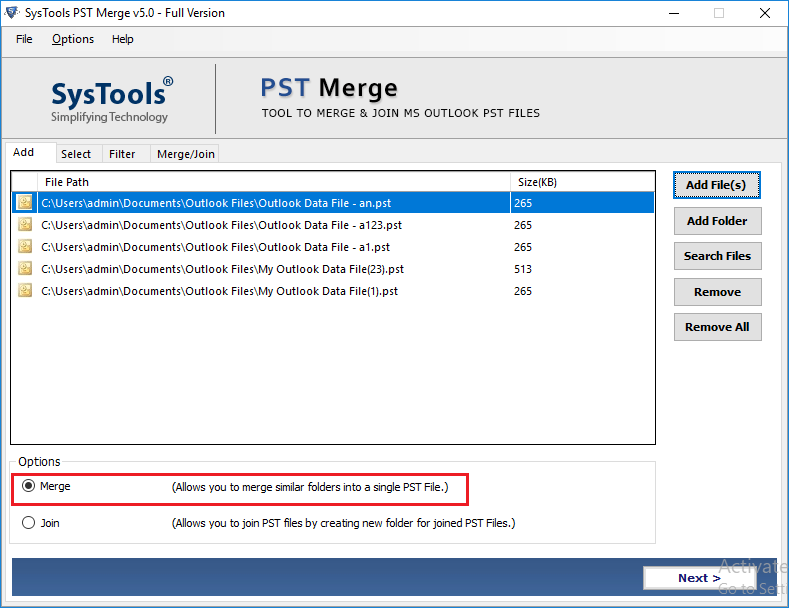 Merge Outlook Inboxes