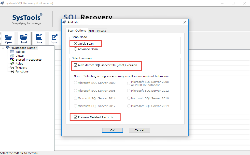 Recover Deleted Data From Table in SQL Server